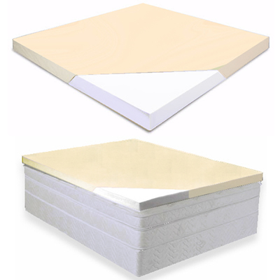 Zippered Cover Included With Twin 2 Inch Soft Sleeper 5.5 Visco Elastic Memory Foam Mattress Topper USA Made On Amazon