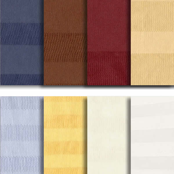 400 Thread Count Stripe Pillow Cases (Pair)
