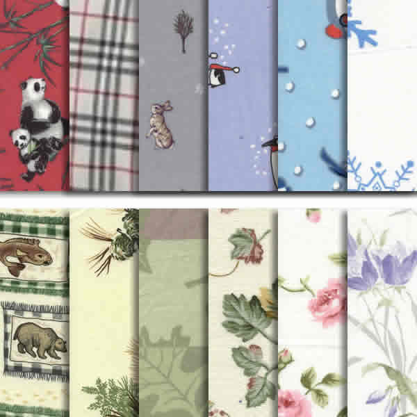 Flannel Pattern Sheet Sets